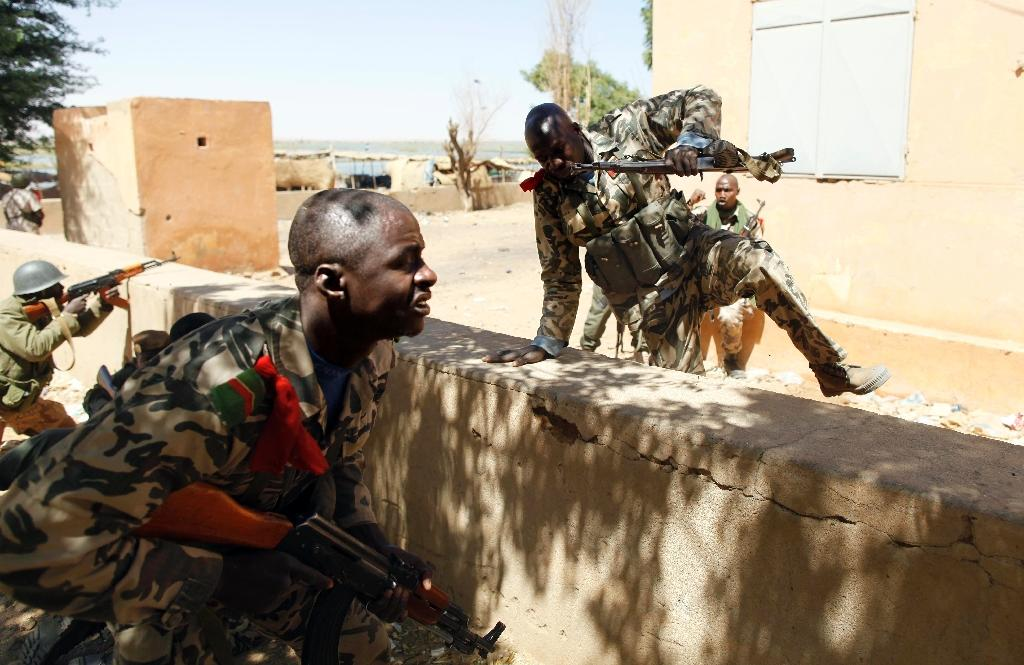 File picture shows Malian soldiers during an operation against Islamist rebels in the north of the country