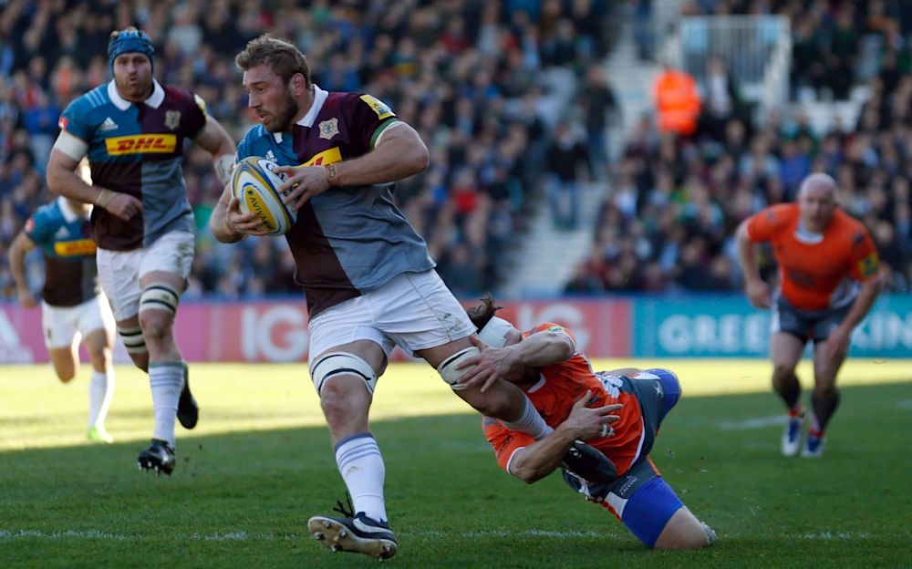 Chris Robshaw in action against Newcastle - PA