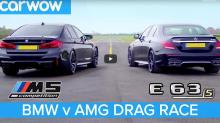 宿命對決 − BMW M5 Competition 與 Mercedes-AMG E63 S 展開 Drag Race 勝負