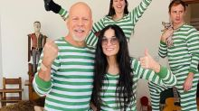 Demi Moore and Bruce Willis are isolating together — in matching PJs