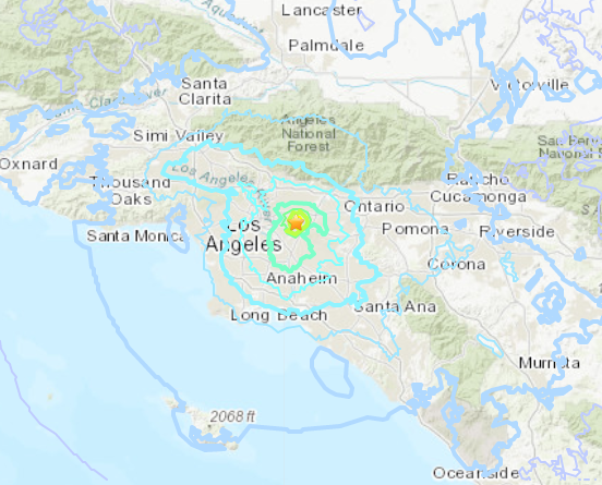 Magnitude 4.5 earthquake strikes Southern California