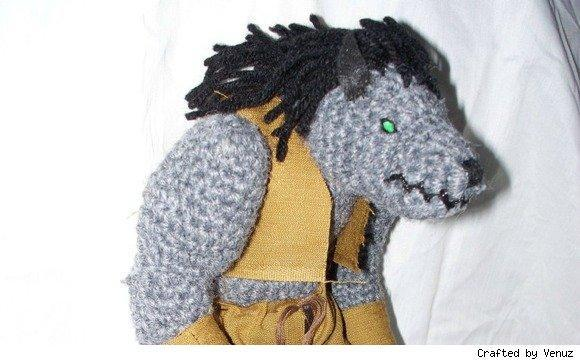 This crochet worgen will growl its way into your heart