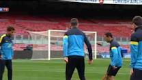 Barcelona train ahead of Malaga clash