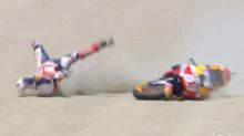 MotoGP champ rushed to hospital after terrifying crash