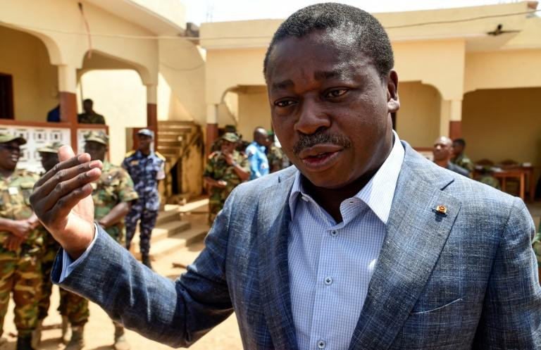 President Faure Gnassingbe, whose family has ruled Togo since 1967, is the frontrunner in Saturday's election (AFP Photo/PIUS UTOMI EKPEI)