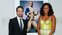 Michelle Obama stuns in yellow gown as she honours Lin-Manuel Miranda