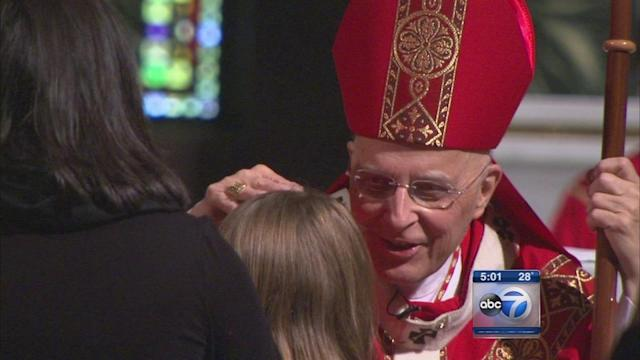 Francis Cardinal George makes first appearance since kidney cancer announcement