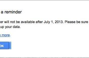 PSA: Back up your Google Reader account before July 1, 2013
