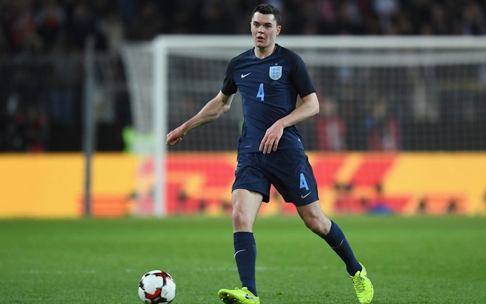 Michael Keane made his England debut against Germany - The FA Collection