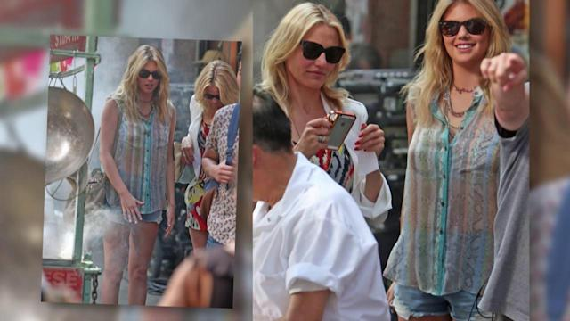 Cameron Diaz and Kate Upton Filming in New York City
