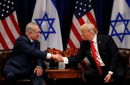 WASHINGTON/JERUSALEM (Reuters) - U.S. President Donald Trump and Israeli Prime Minister Benjamin Netanyahu hold talks on Monday that offer a chance to project a common front against Iran but are expected to do little to advance seemingly stalled Israeli-Palestinian peace prospects.  Mired in corruption