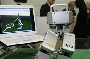 Microsoft-powered biped robot makes its debut