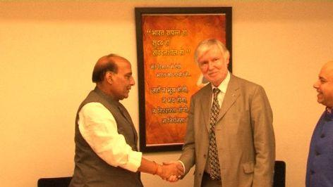 Finland Foreign Minister meets Rajnath Singh