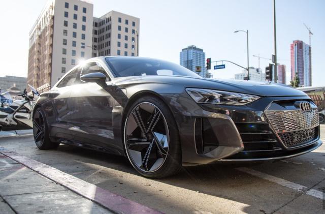 Driving Audi's beautiful E-Tron GT concept car