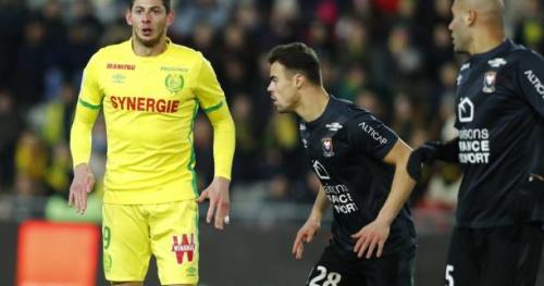 Foot - L1 - Nantes - Nantes avec Emiliano Sala et Valentin Rongier contre Caen