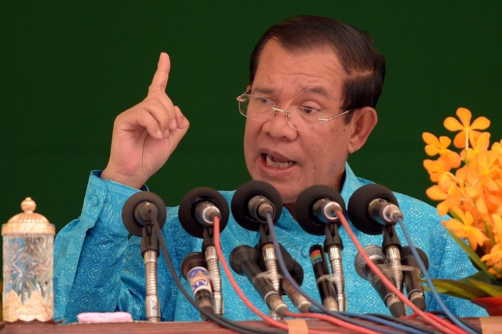 Hun Sen's party says calling for a boycott of the July 29 poll could be met with criminal charges (AFP Photo/TANG CHHIN Sothy)