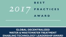 Frost & Sullivan Recognizes Clearford Water Systems as an Enabling Technology Leader with its Clearford One™ Water Treatment System