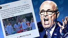 Giuliani incoherently tweets a possible apology for sharing doctored Pelosi video