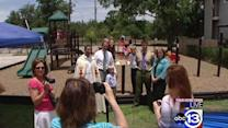 Eagle Scout builds playground as memorial to friend who died