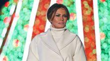 La chaqueta de cuadros de Melania Trump que está escandalosamente rebajada