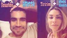"""Caio Castro e Grazi Massafera brincam com filtro: """"Feitos um para o outro"""""""