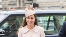 Kate Middleton Recycles Pink Alexander McQueen Coat