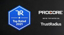 Procore Earns a 2021 Top Rated Construction Product Award From TrustRadius