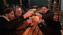Midnight beer gardens and beauty treatments as people brave snow for England's relaxed COVID lockdown