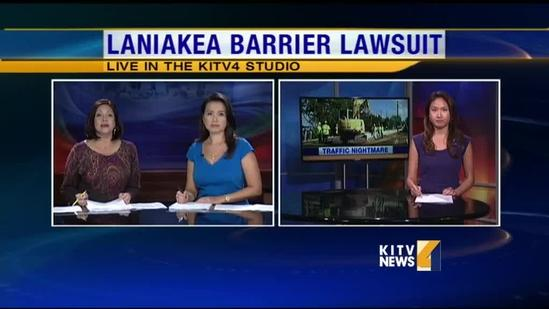 Lawsuit brewing against the state over Laniakea traffic barriers