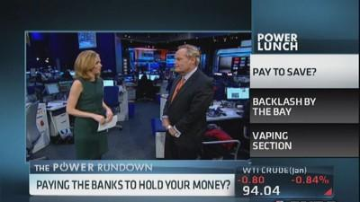 Paying the banks to hold your money?