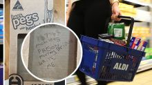 Prisoner's note in Aldi shopper's peg packet 'won't happen again'