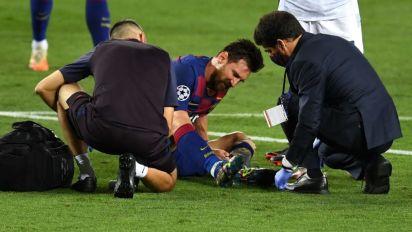 """VÍDEO   El curioso discurso de Messi en el entretiempo de Barcelona vs Napoli: """"No seamos pelotudos"""""""