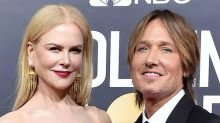 Nicole Kidman Enjoys Rare Family Moment With Keith Urban and Daughters at 2021 Golden Globes