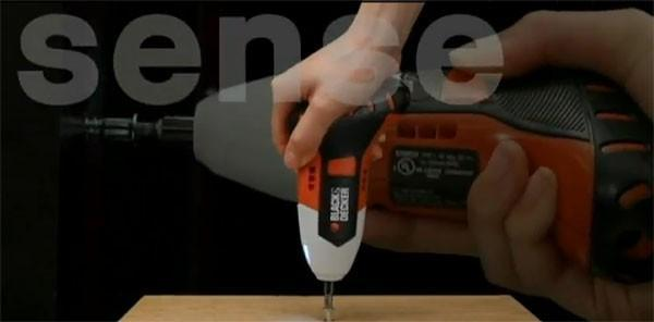 Black and Decker screwdriver senses your hand movement to adjust speed, direction (video)