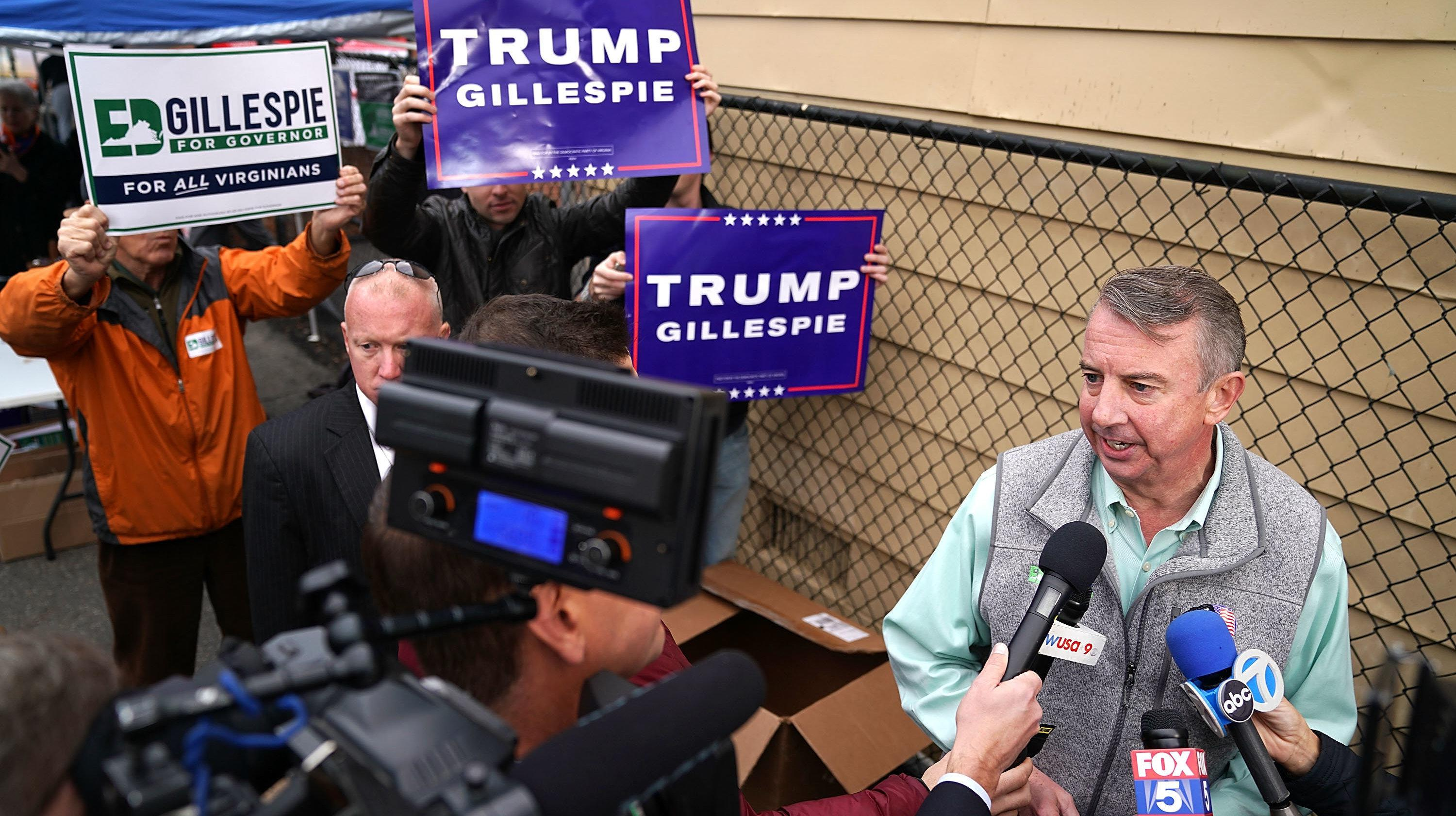 Trump Slams Republican Ed Gillespie Following Democratic Win In Virginia Governor's Race