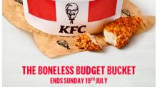 KFC's Boneless Bucket Is Half Price For A Limited Period Of Time