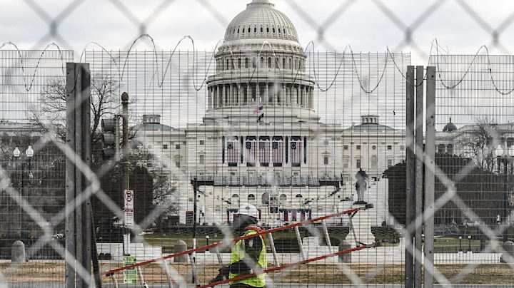 The Trump era ends with an otherworldly inauguration