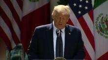 """Trump y López Obrador se elogian mutuamente y destacan la """"fuerte"""" relación México-EEUU"""