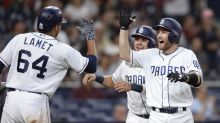Padres rookie Rocky Gale has joyous reaction to his first career homer