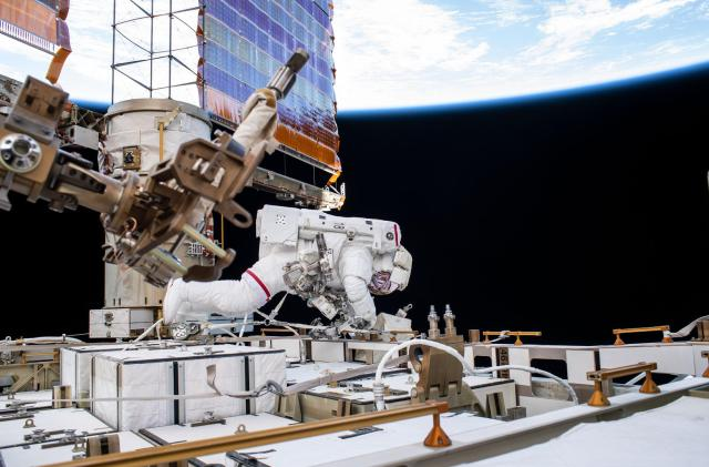 NASA astronauts complete multi-year project to upgrade batteries on the ISS