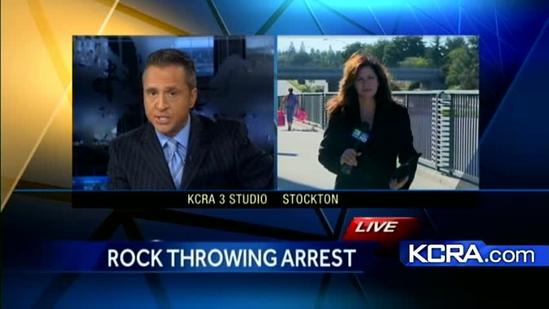 3 teens arrested, accused of Stockton rock throwing incident