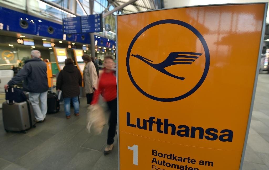 News of the crash sent shares in Lufthansa sinking more than four percent, but they recovered to end the day down 1.56 percent at 13.57 euros, still the worst performer on the Frankfurt stock market (AFP Photo/Hendrik Schmidt)