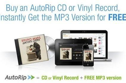 Amazon AutoRip for Vinyl Records gives customers free MP3 copies