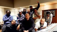 Dr. Dre back in the studio just a day after release from hospital for brain aneurysm