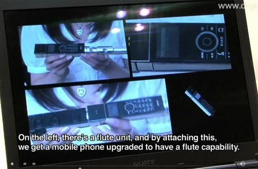 Prototype NTT DoCoMo phone turns into a flute and takes your blood