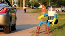 Hitchhiking Robot Wants to Learn About Humans