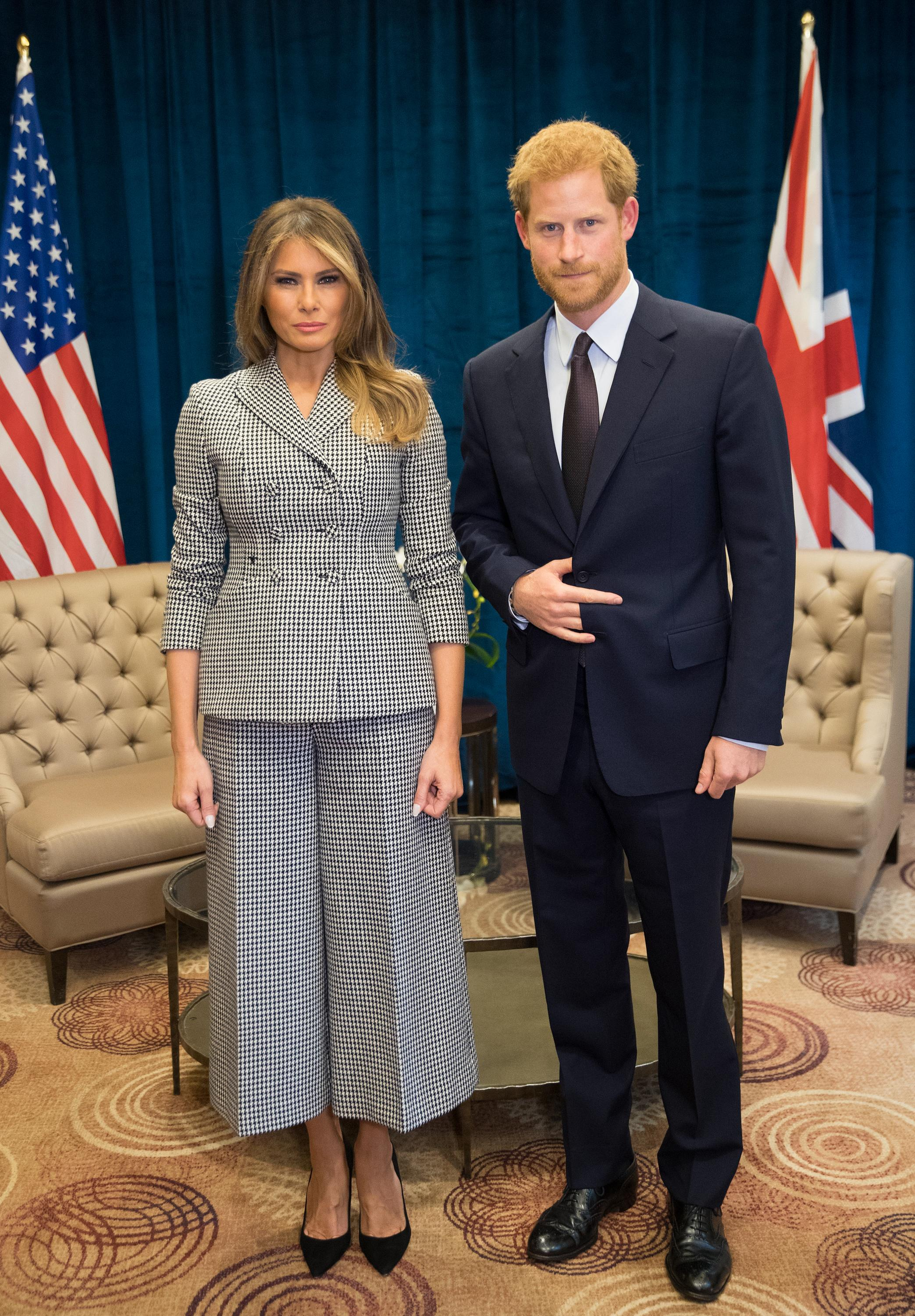 prince harry flashes hand symbol in flotus pic