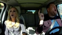 Carrie Underwood Lets Jesus Take The Wheel in Carpool Karaoke
