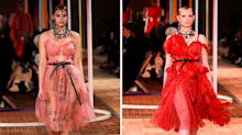 Curvy models hit the Alexander McQueen catwalk for the very first time