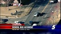 Moore school bus involved in wreck